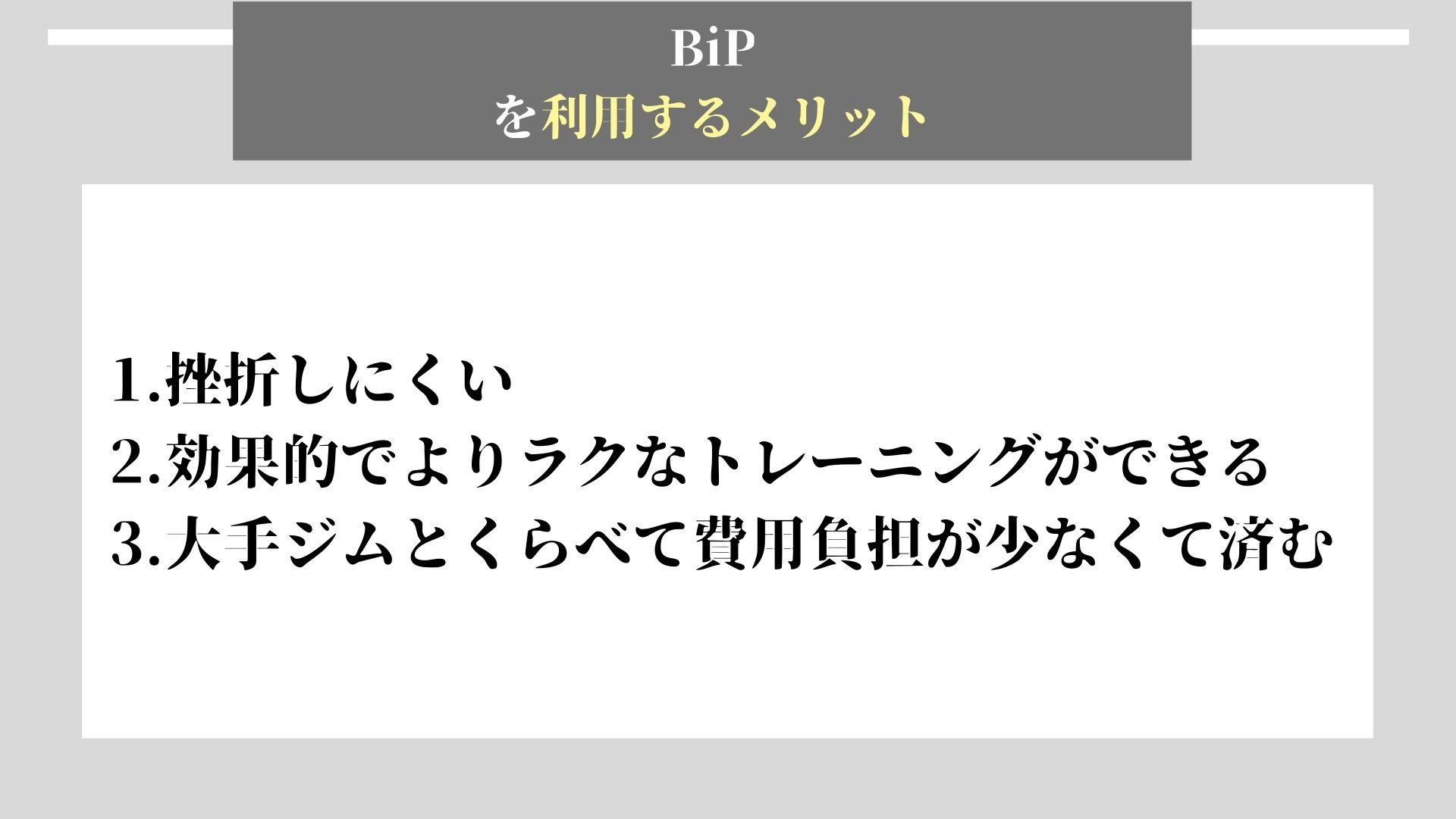BiP メリット