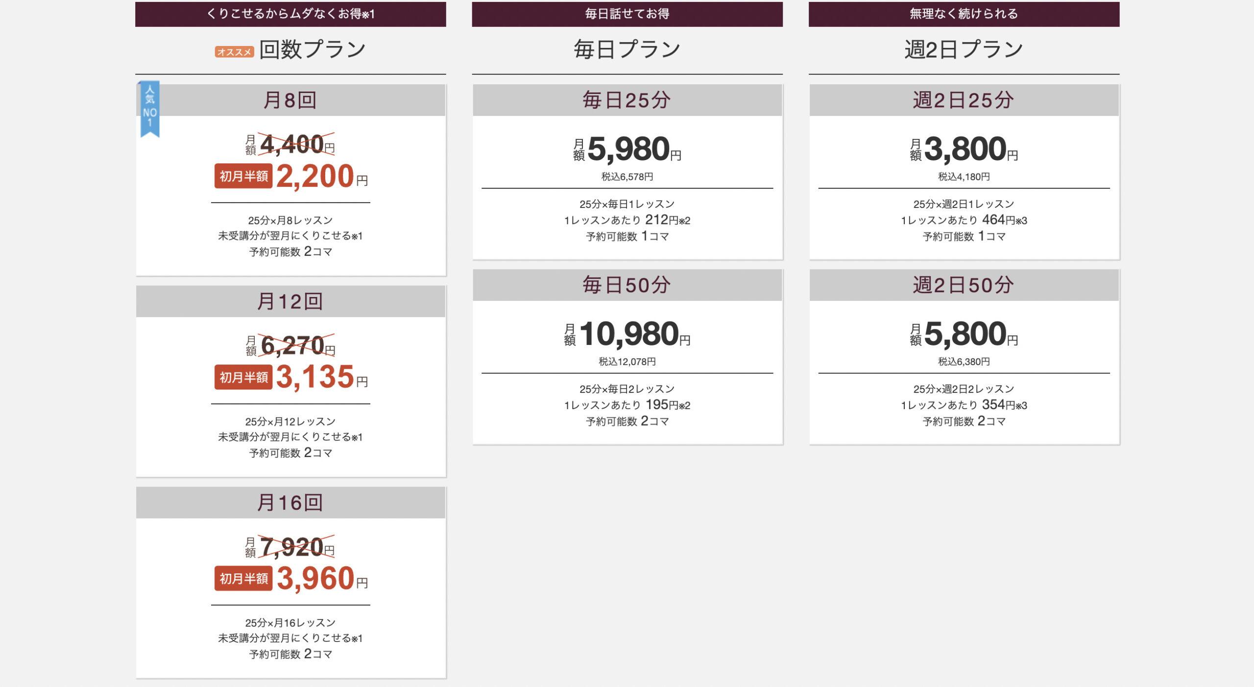 hanaso 料金価格
